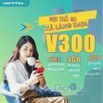Hướng dẫn đăng ký gói V300 của Viettel nhận combo ưu đãi data 4G